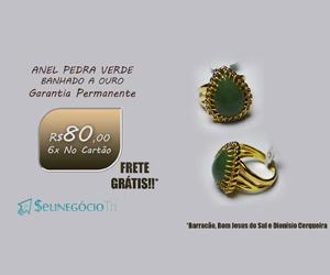 Anel Pedra Verde Slot 5