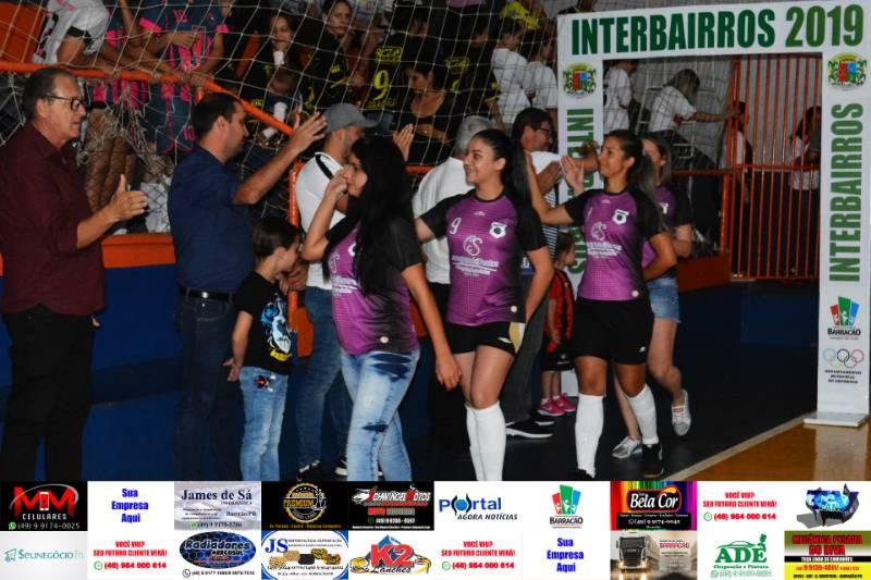 Confira fotos da abertura do Interbairros de Futsal de Barracão
