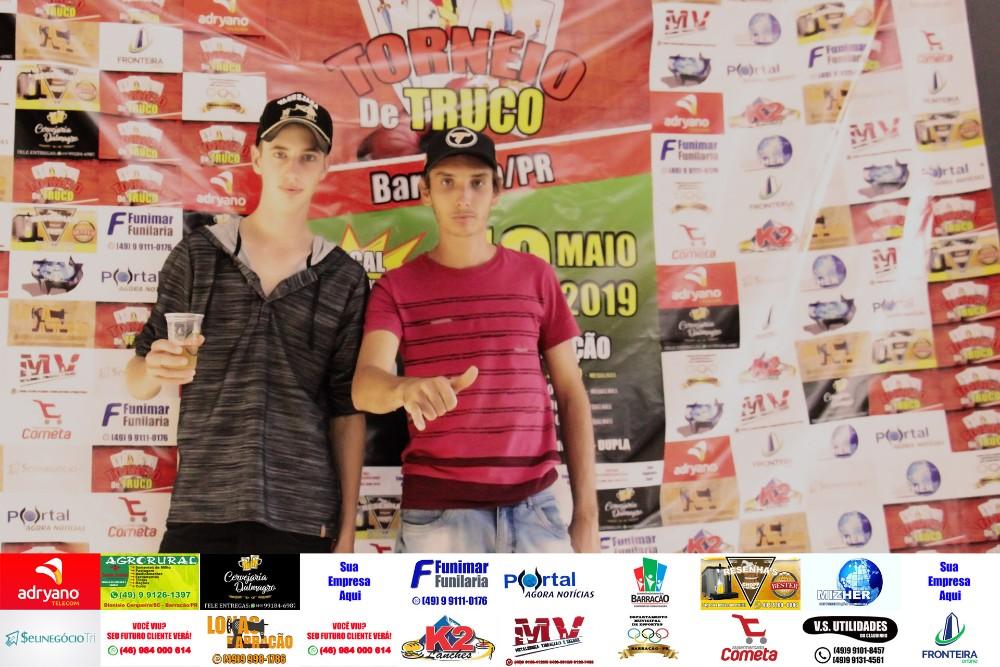 Confira as fotos do Torneio de Truco realizado no último domingo (19) em Barracão