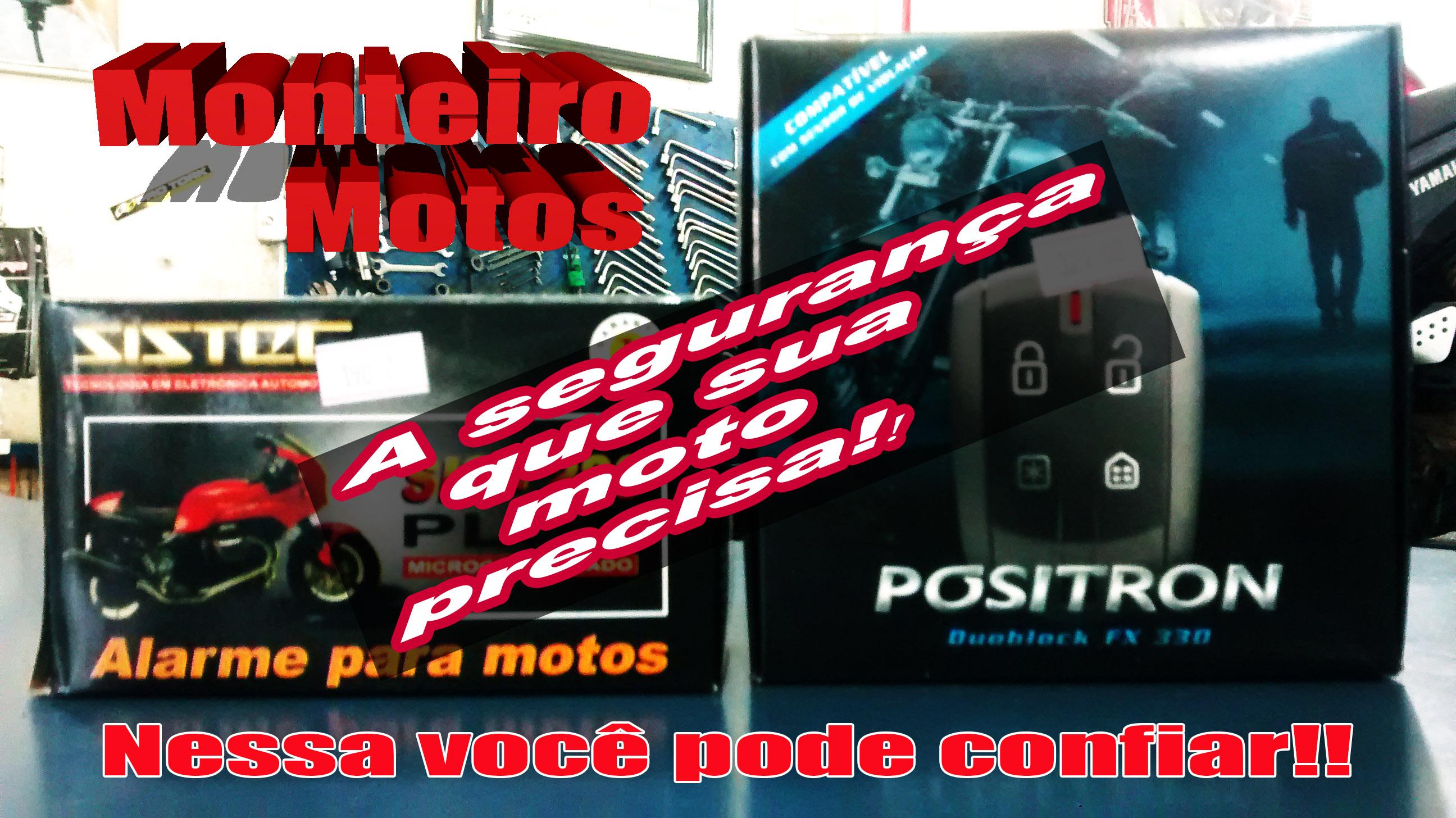 Não deixe sua moto a mercê de ladrões, instale um alarme na Monteiro Motos
