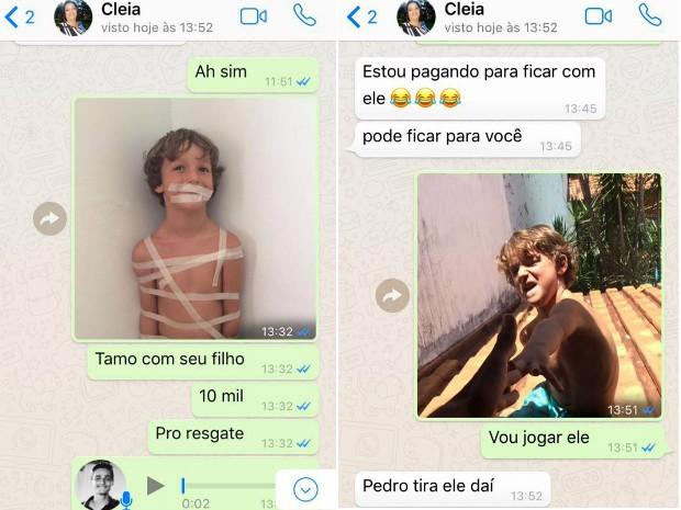 Irmão faz fotos divertidas de caçula 'sequestrado' e imagens bombam