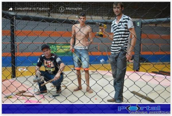 Barracão- palco para os guerreiros que irão disputar os Cinturões está quase pronto
