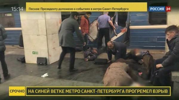 Explosão deixa mortos no metrô de São Petersburgo, na Rússia
