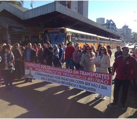 Francisco Beltrão - Manifestações contra a Reforma da Previdência