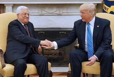 Donald Trump se reúne com líder palestino