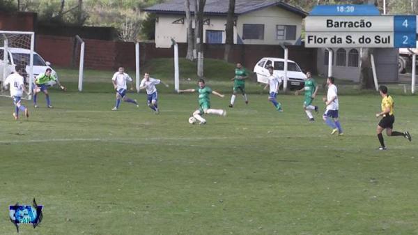 M22 preparado para o chute do quinto gol/Foto:Reprodução PAN-TV