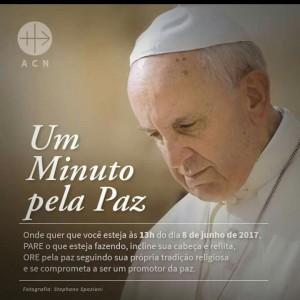 Papa faz apelo à humanidade por Um minuto pela Paz