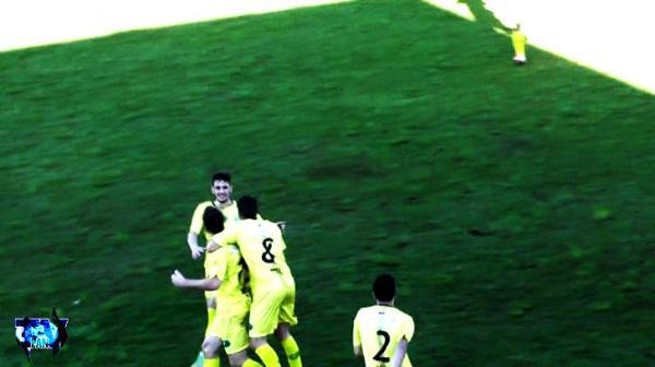 Santo-antonienses comemorando o juntamente com Rodrigo Durante, o gol da vitória sobre Barracão/Foto:Reprodução PAN-TV