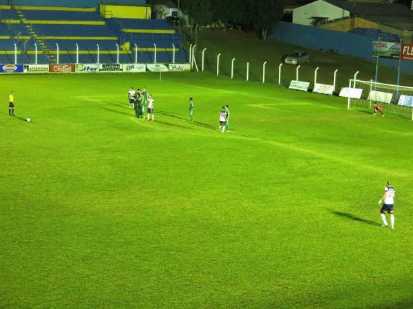 Beltrão e Coronel Vivida no jogo da ida, das oitavas de finais, no Anilado/Foto:Divulgação Facebook