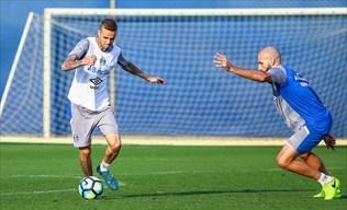 Com retorno de Luan grêmio treina para enfrentar Vasco no sábado