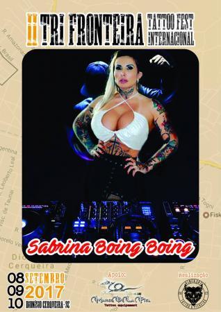Tri Fronteira Tattoo Fest – Sabrina Boing Boing é atração para as noites de sexta e sábado