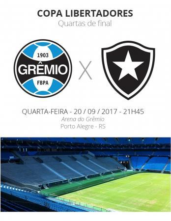 Quartas da Libertadores Grêmio x Botafogo