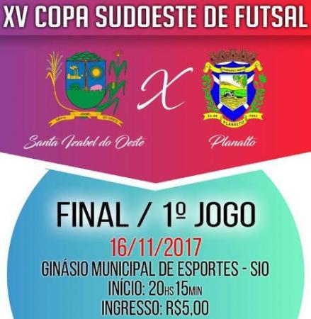 Copa Sudoeste – Santa Futsal e Planalto começam a decidir o título hoje (16) à noite