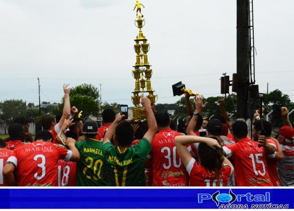 Marmeleiro empata com Nacional e é tri campeão consecutivo do Regional de Amadores/LBF