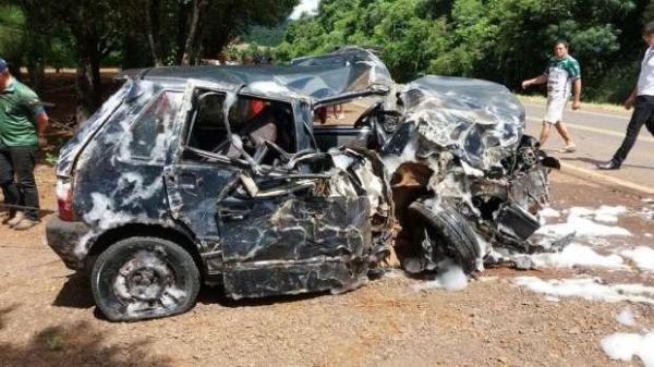 Homem fica ferido após acidente na BR-163 em Capanema