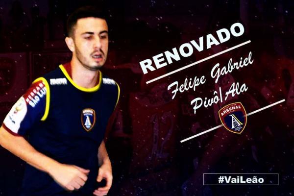Felipe Gabriel vai representar a tri-fronteira no estadual de futsal com as cores do Arsenal