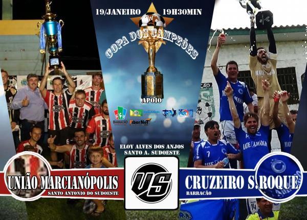 União Marcianópolis e Cruzeiro definem plantel para a Copa dos Campeões