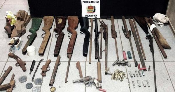 Oficina clandestina de armas fechada pela pm em palma sola for Oficina armas lanzarote