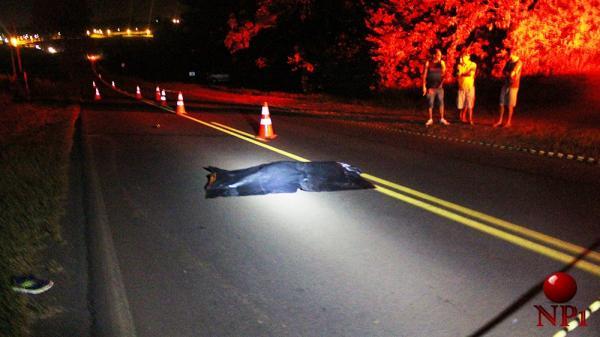 Homem morre após ser atropelado