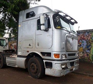 PM recupera caminhão roubado