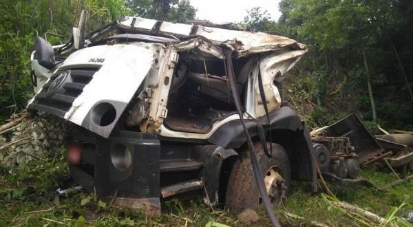 Condutor fica ferido após acidente na SC-305