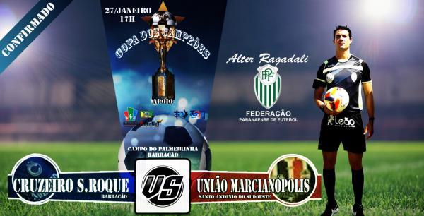 Final da Copa do Campeões entre Cruzeiro e União Marcianópolis terá apito federado