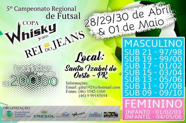 5° Campeonato Regional de Futsal