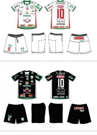 Coronel Futsal apresentou o modelo de uniforme para temporada 2018