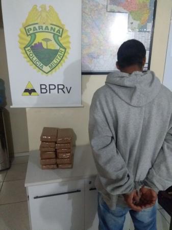 10 kg de maconha são apreendidos pela Polícia Rodoviária