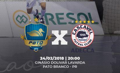 Pato confirma amistoso para o próximo sábado (24) contra o Cascavel Futsal