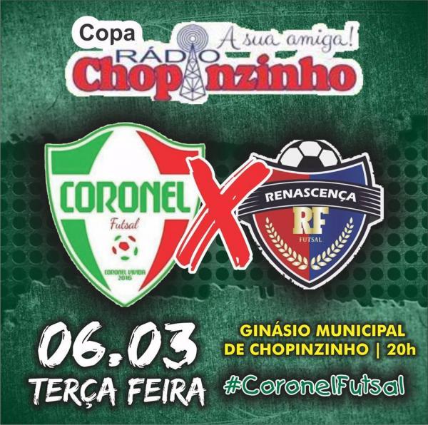 Coronel Futsal estreia na temporada contra Renascença pela Copa Rádio Chopinzinho