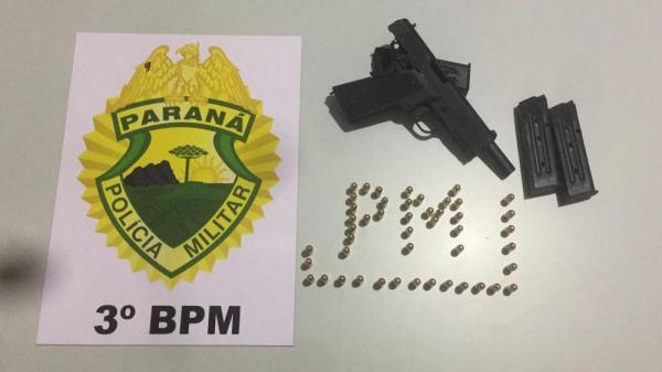 Homem com pistola e 47 munições é preso em Chopinzinho