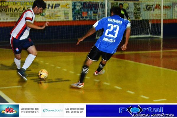 Resultados da rodada do Interbairros de Futsal em Barracão