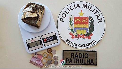 Homem é preso com droga em São Miguel do Oeste