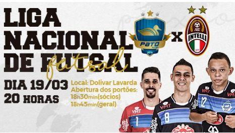 Pato estreia hoje (19) contra Intelli no Dolivar Lavarda