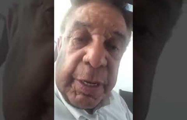 Agnaldo Timóteo grava vídeo se retratando com os sulistas
