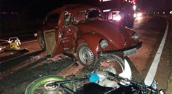 Quatro pessoas ficam feridas após acidente na BR-282 em São Miguel do Oeste