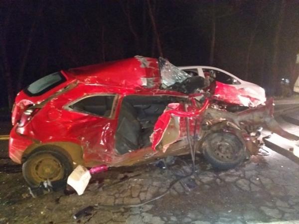 Condutora morre em acidente na BR-282
