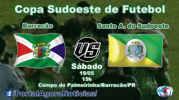 Confirmado; Barracão vai para o tudo ou nada contra Santo Antonio na Copa Sudoeste de Futebol