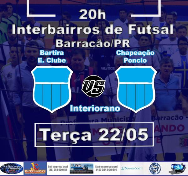 Barracão – Bartira e Poncio medem força hoje (22) para ver quem vai a final do Interiorano