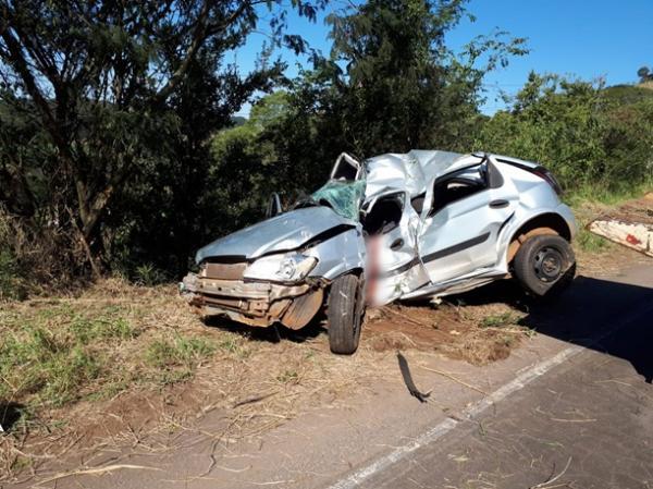 Jovem morre após acidente na BR-163