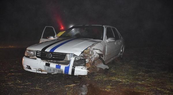Dois veículos se envolvem em acidente na BR-163