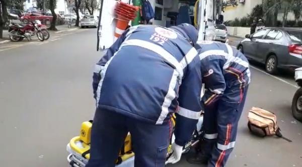 Homem fica ferido após acidente