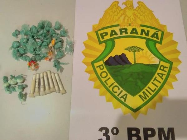 PM apreende maconha e cocaína