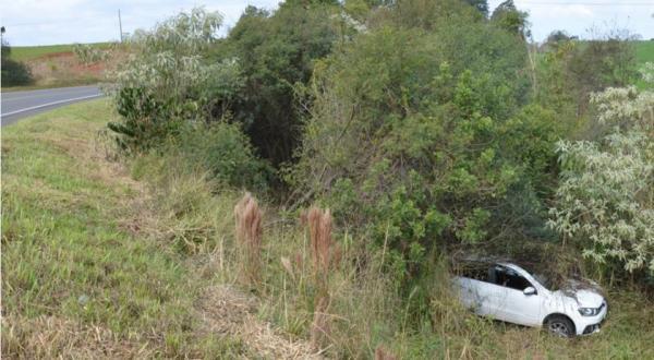 Saída de pista é registrada na BR-163 em Dionísio Cerqueira