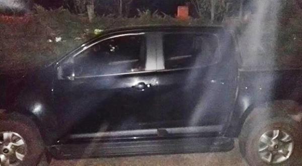 PM recupera camionete furtada em Santo Antônio do Sudoeste