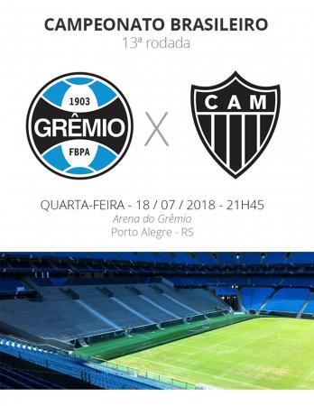 Grêmio volta ao Brasileirão contra o Atlético-MG