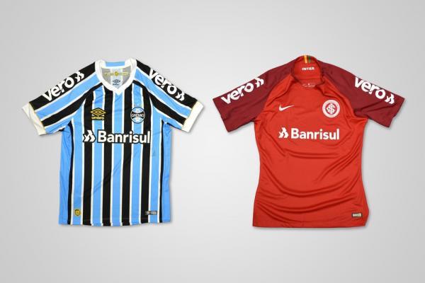 Grêmio e Inter fecham patrocínio com mesma marca para a manga da camiseta