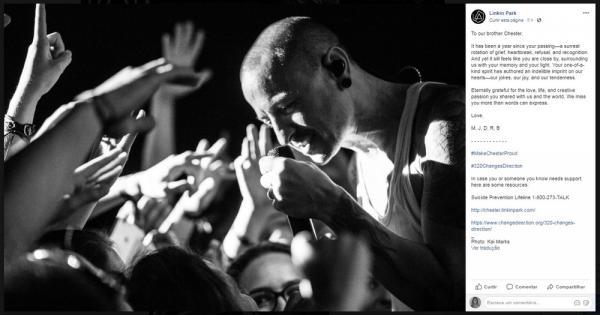 Linkin Park faz homenagem a Chester Bennington no aniversário de morte do cantor