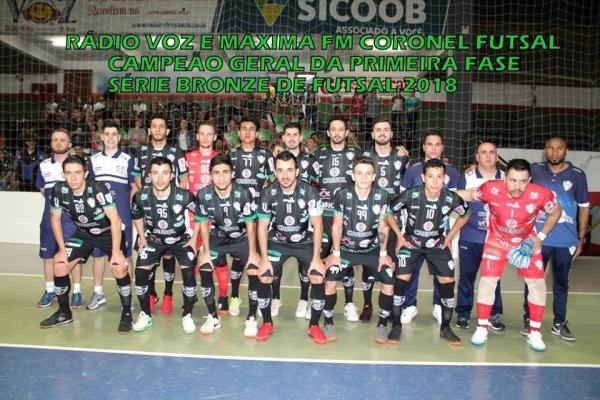 Coronel Futsal é campeão geral da primeira fase da Série Bronze do Paranaense 2018